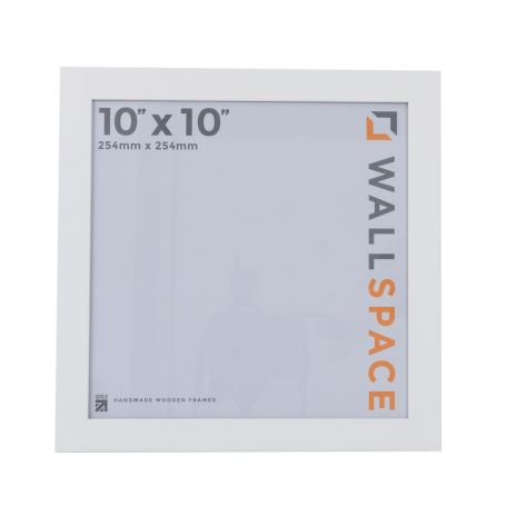 10 x 10 - 25mm Smooth Matt White Square Photo Frames