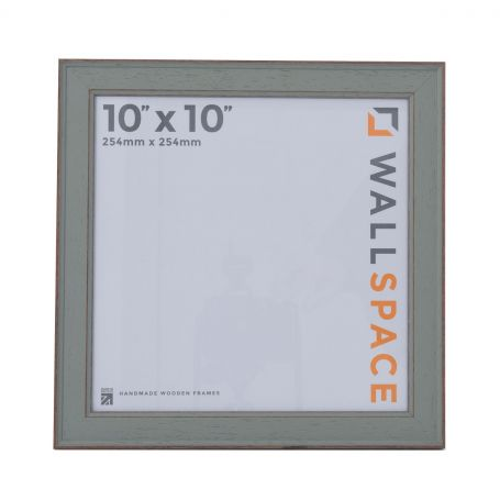 10 x 10 - Vintage Shabby Chic Green Square Photo Frames