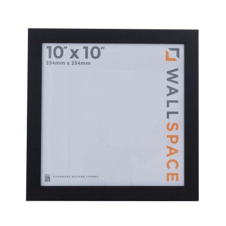 10 x 10 - 25mm Smooth Matt Black Square Photo Frames