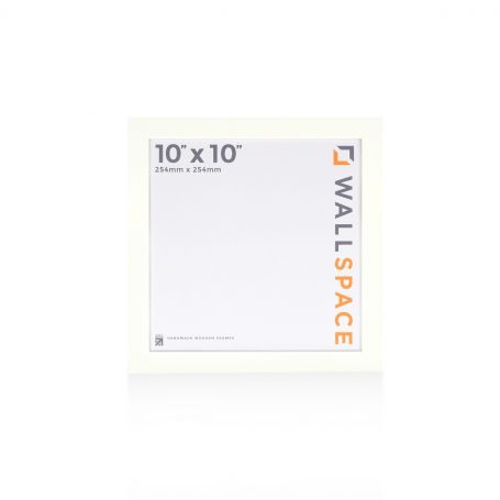 10 x 10 - 25mm Smooth Matt White Square Photo Frames