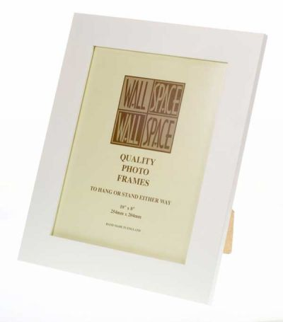 "10"" x 8"" - 40mm Smooth Matt White Photo Frame"