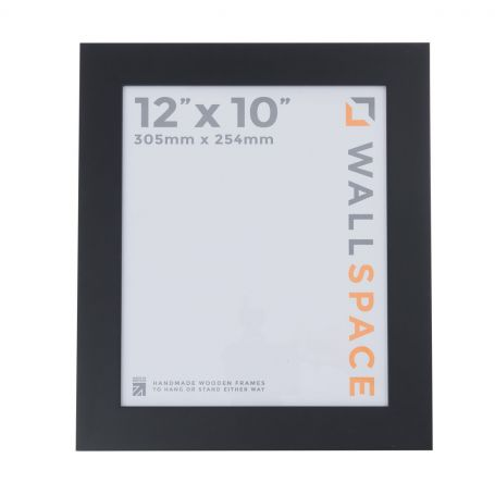"12"" x 10"" - 40mm Smooth Matt Black Photo Frame"