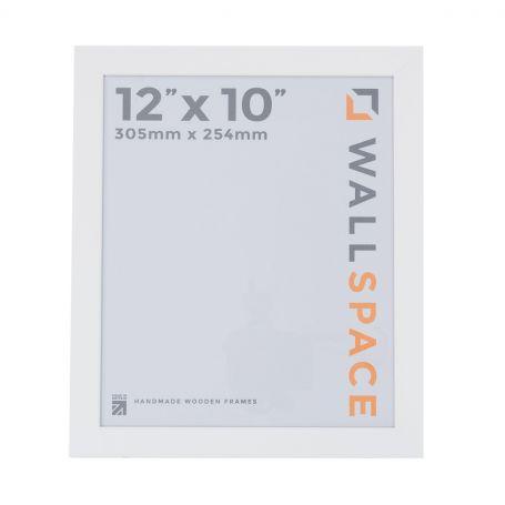 "12"" x 10"" Photo Frame in 25mm White"