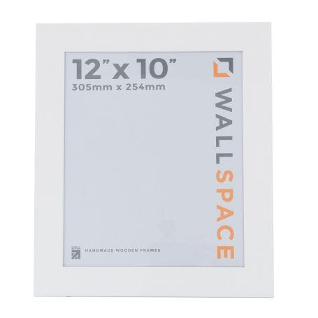 "12"" x 10"" - 40mm Smooth Matt White Photo Frame"