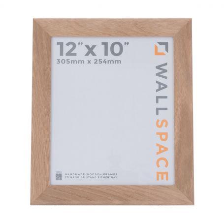 """12"""" x 10"""" Photo Frame in Wide Solid Oak"""