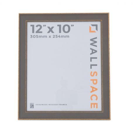 12 x 10 - Vintage Shabby Chic Distressed Frame - Grey