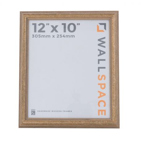 """12"""" x 10"""" Photo Frame in Speckled Antique Gold"""