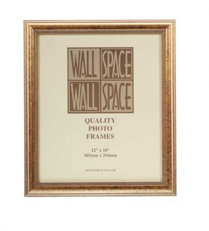 "12"" x 10"" Photo Frame in Speckled Antique Gold"