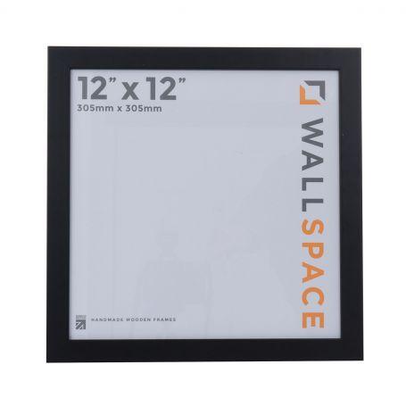 12 x 12 Smooth Matt Black Square Photo Frames