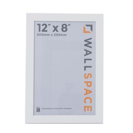 12 x 8 - 25mm Smooth Matt White Photo Frames