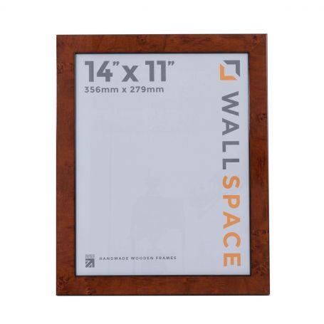 14 x 11 Gloss Walnut Photo Frames