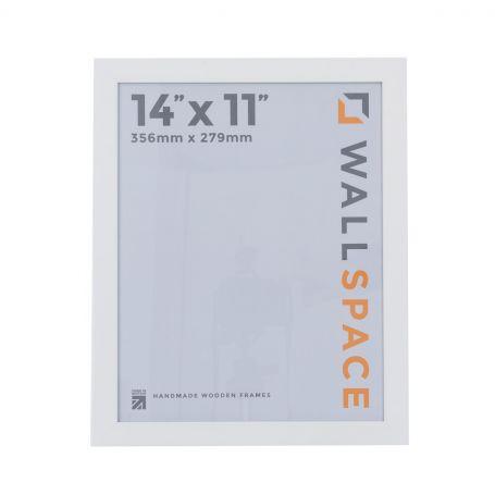 "14"" x 11"" - 40mm Smooth Matt Black Photo Frame"