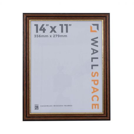 14 x 11 Traditional Brown Frame