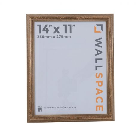 """14"""" x 11"""" - Speckled Gold Wooden Photo Frame"""