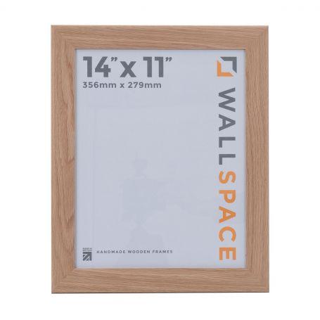 "14"" x 11"" - 40mm Solid Oak Wooden Photo Frame"