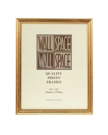 "14"" x 11"" Photo Frame Gold"