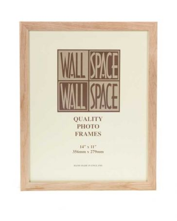 "14"" x 11"" Photo Frame Solid Oak"