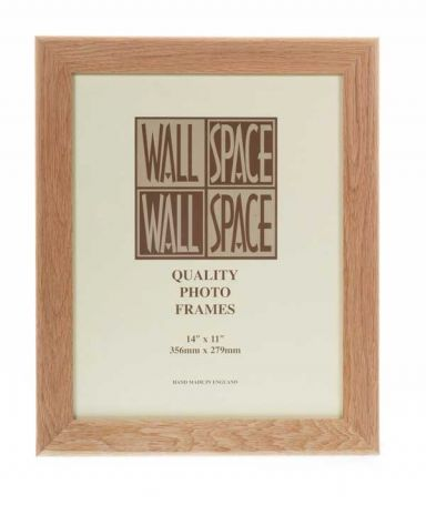 "14"" x 11"" - 40mm Solid Oak Wooden Photo Frame"