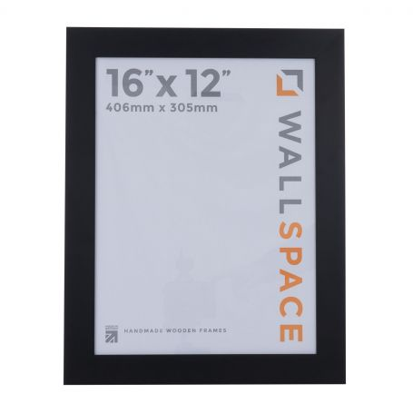 16 x 12 Wide Smooth Matt Black Photo Frames