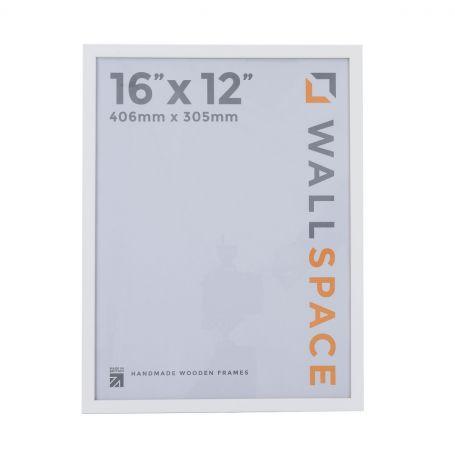 16 x 12 Thin Matt White Photo Frames