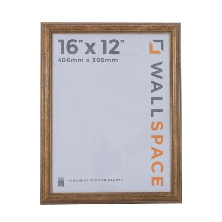 16 x 12 Antique Gold Wooden Photo Frames