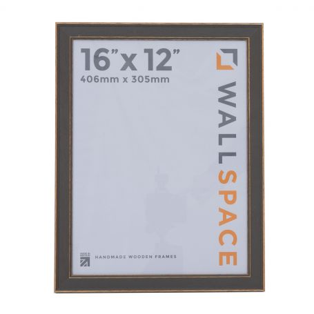 16 x 12 - Vintage Shabby Chic Distressed Frame - Grey
