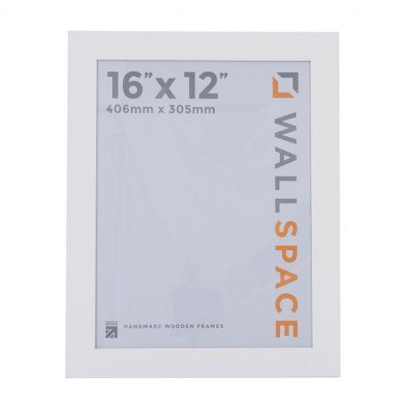 16 x 12 Wide Smooth Matt White Photo Frames