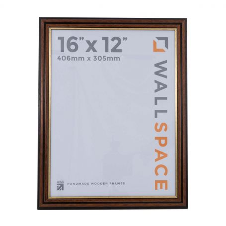 16 x 12 Traditional Brown Frame