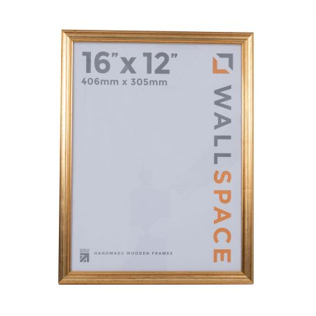 16 x 12 Gold Wooden Photo Frames