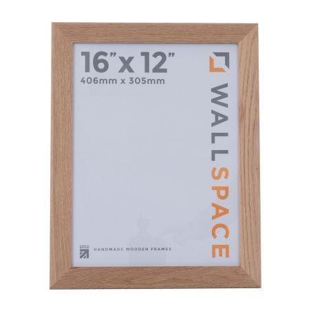 "16"" x 12"" - 40mm Solid Oak Wooden Photo Frame"