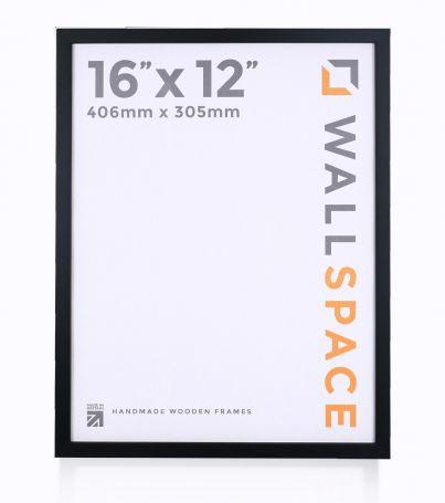 "16"" x 12"" - 15mm Matt Black Photo Frame"