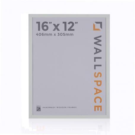 """16"""" x 12"""" - 15mm Matt White Photo Frame"""
