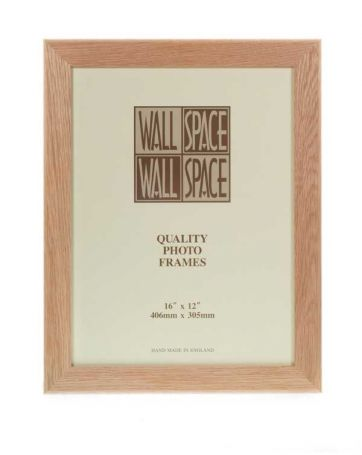 "16"" x 12"" - 40mm Solid Oak Wooden Photo Frame"