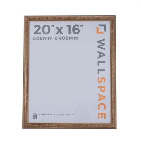 """20"""" x 16"""" - Speckled Gold Wooden Photo Frame"""
