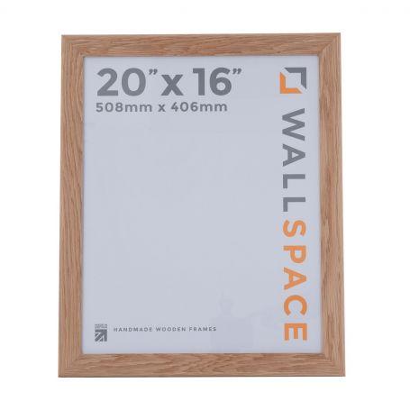 "20"" x 16"" - 40mm Solid Oak Wooden Photo Frame"