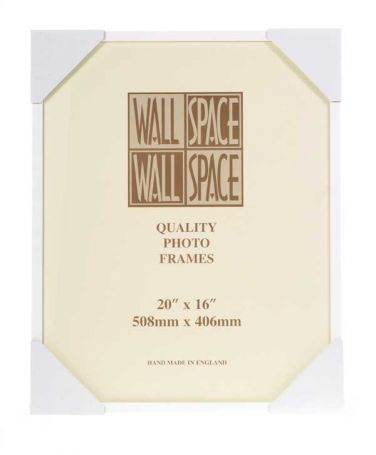 20 x 16 - 15mm Matt White Photo Frames