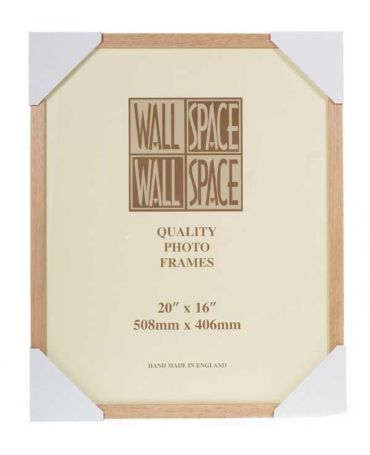 20 x 16 - 21mm Solid Oak Photo Frames