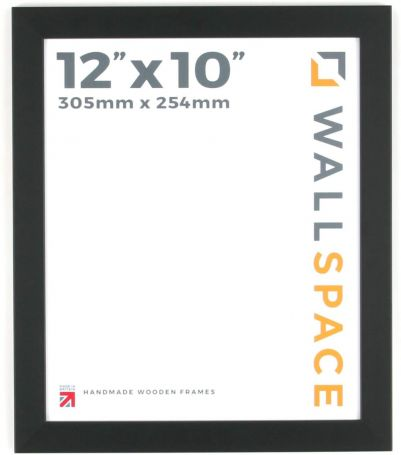 "12"" x 10"" Photo Frame in 25mm Black"