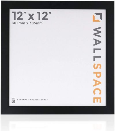 12 x 12 - 25mm Smooth Matt Black Square Photo Frames