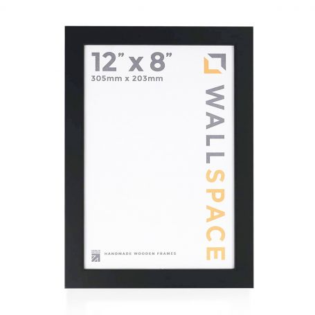 12 x 8 - 25mm Smooth Matt Black Photo Frames