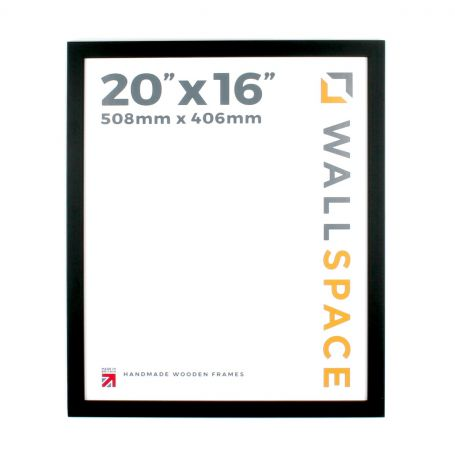 20 x 16 - 25mm Smooth Matt Black Photo Frames