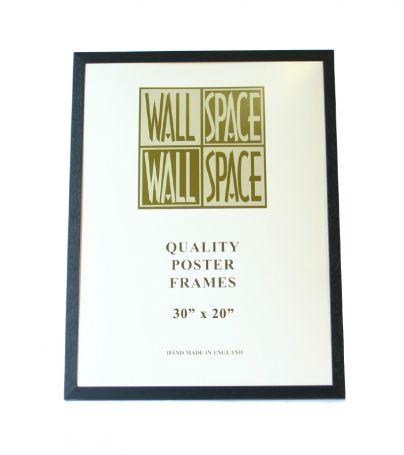 "Black Wooden Poster Frame - 30"" x 20"""