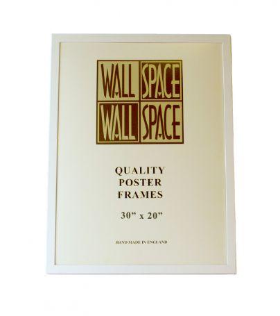 """White Wooden Poster Frame - 30"""" x 20"""""""