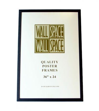"Black Wooden Poster Frame - 36"" x 24"""