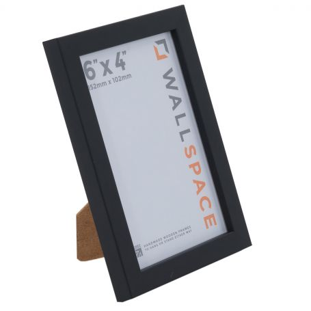 "6"" x 4"" Photo Frame 15mm Black"