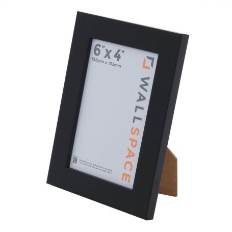 "6"" x 4"" Photo Frame 25mm Black"