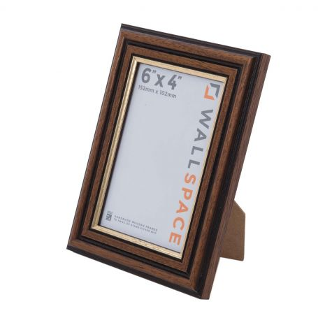 6 x 4 Traditional Brown Frame