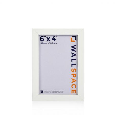 "6"" x 4"" Photo Frame 25mm White"