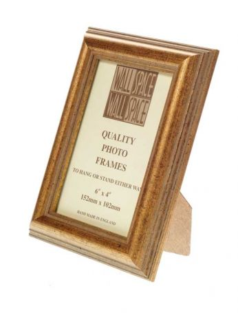 "6"" x 4"" Photo Frame in Speckled Gold"