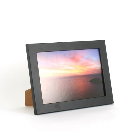 9 x 6 - 25mm Smooth Matt Black Photo Frames